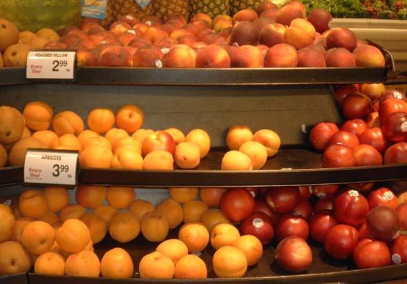 2014年5月下旬美国超市早熟桃价格