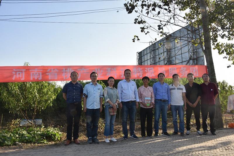 朱更瑞研究员率河南省桃产业科技特派员服务团赴郸城县开展秋季科技服务